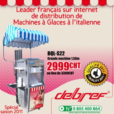 Promotion machine à glace italienne BQL-22